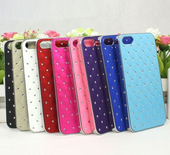 Hot sale! Luxury Bling Diamond Crystal Hard Back Case Cover For Apple iPhone 5 5G 5th free shipping(China (Mainland))