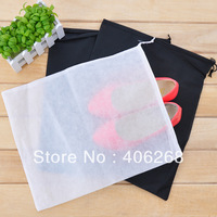 free shipping  wholesale  cheap!!! Non-woven shoe pouch  Travel Drawstring Bags dustproof shoe bag Shoes Covers
