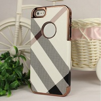 New arrival! New Luxury Chrome Diagonal Leather Case Cover For Apple iPhone 5 5G 5th White Free shipping&Wholesale