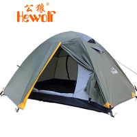 Hewolf double layer tent field outdoor camping tent 1605