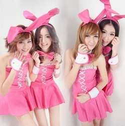 dance costumes Sweet rabbit lady halloween Christmas uniforms role combination costume(China (Mainland))