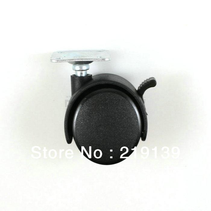 Light Duty PP Rubber Nylon Furniture Plastic Swivel Caster Wheel Stem Rolling
