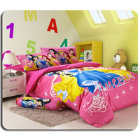 Princess Bedding Duvet Cover Set Home Textile for Girls 3/4PCS Twin/Full/Queen/King Size 100% Cotton Fabri
