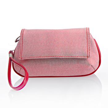 Free shipping Fog flower 2012 shiny flip day clutch tote bag cosmetic bag clutch fashion women's handbag