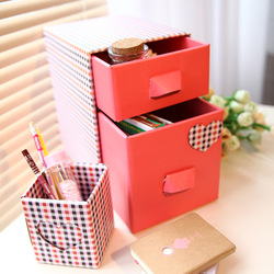 Stationery desktop drawer storage cabinet paper skin care products storage box finishing box drawer 3050(China (Mainland))