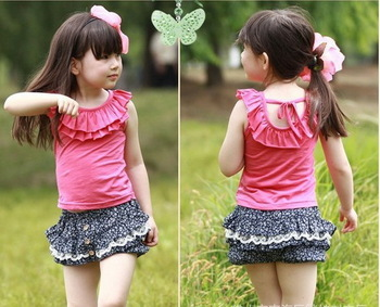 Girls Outfit Baby Toddlers T Shirt Tops Pants 2pcs Set 1 6Y Summer Cool Clothing
