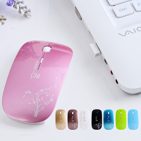 Aj i30 ultra-thin wireless mouse laptop mouse elegant fashion(China (Mainland))