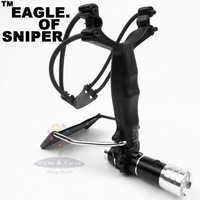 Eagle of Sniper G5 Slingshot Powerful Hunting Hunter Wrist Catapult + Clips + Flashlight 1set/lot Free Shipping