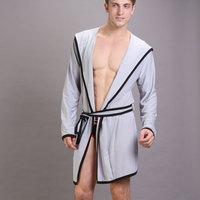 2012 summer male silky robe sexy lounge long-sleeve sleepwear viscose men's loose bathrobes
