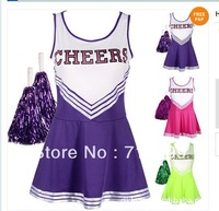 Free Shipping Milla Sexy Cheerleader Costumes Sexy Lingerie Dress Sexy Club wear L0120