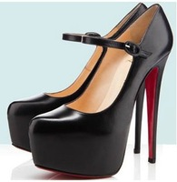 New Arrival Ladies Fashion Ankle Strap Red Bottom High Heel Shoes.Stiletto Wedding Shoes X328