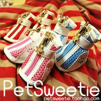 Standard mesh breathable dog shoes dog shoes pet shoes comfortable non-slip zipper dog shoes pet shoes