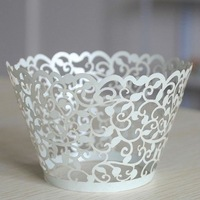 NEW DESIGN!!HOT SALE!!Customized wedding cupcakes wrappers