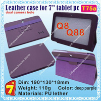 "[T75a] Q88,Q8 (CPU/Allwinner A13) Hard case for 7"" tablet PC; dual camera hole"