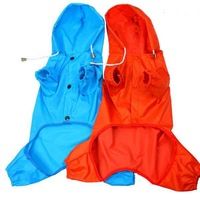 2pcs/lot New Hot Sale Pet Dog Rain Coat Hoodie Hooded Raincoat Clothes Apparel Size S M L XL #9269