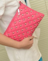 Bags summer new arrival 2014 rivet chain bag envelope messenger bag women's day clutch small bags