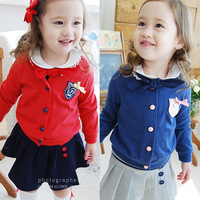 Children's clothing 2013 spring female child baby badge long-sleeve outerwear cardigan 6b