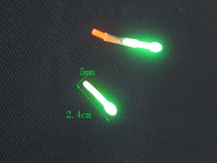 5bag/lot 1bag=2pcs Night Fishing Fluorescent Light 5mm*24mm Fishing accessories tackle tools Fishing Float Visual range 50m