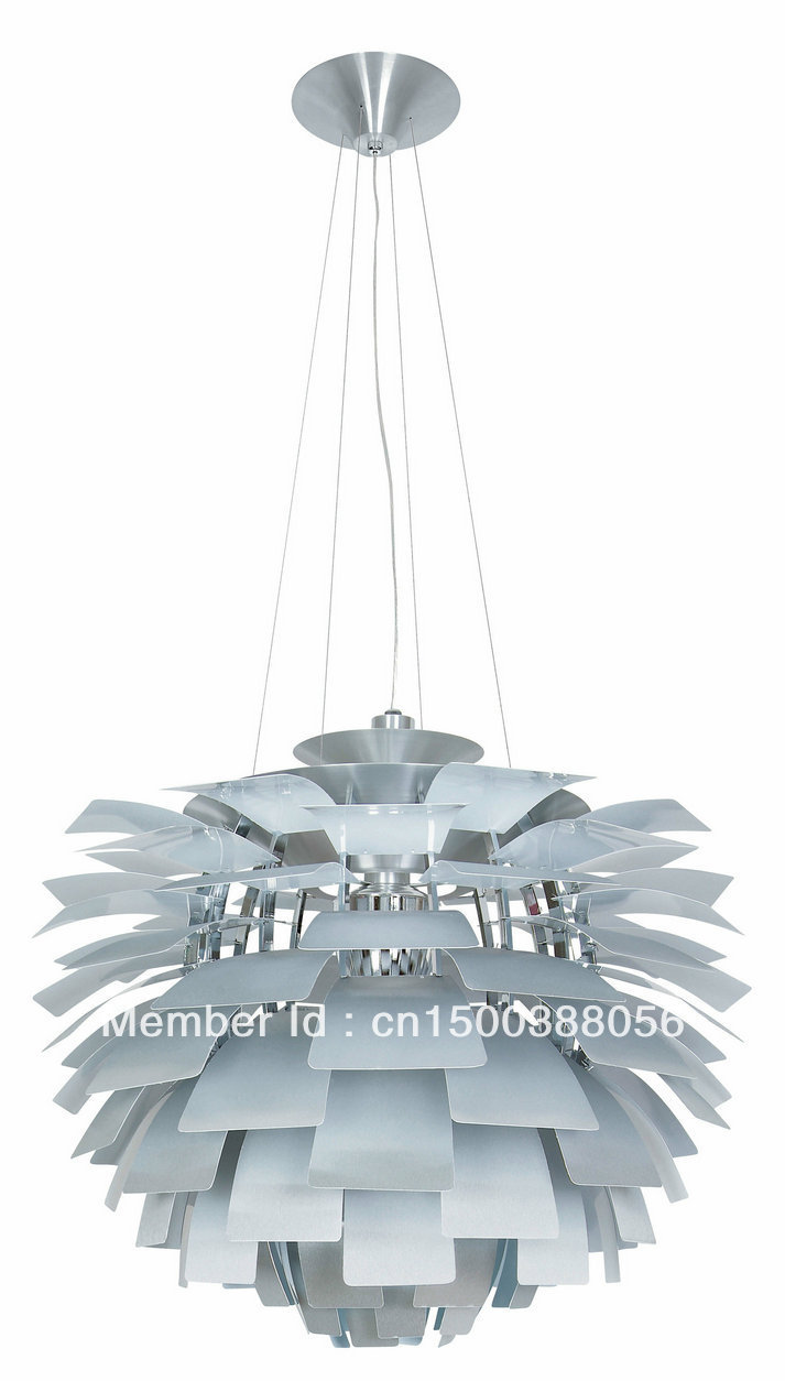 Lamps and Lighting Modern Poul Henningsen PH Artichoke Lamp Aluminum Pendant Lighting 204/3-56-AL(China (Mainland))