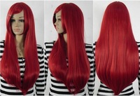 vogue costume long red Hair Wig +wigs hairnet