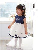 Wholesale 4pcs/lot baby summer wear, baby girl's flower dress,baby princess dress,girl party dress
