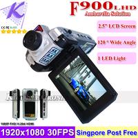 F900LHD Full HD Car DVR 1920x1080P 30FPS H.264 Video Codec Ambarella Chip Car Video Registrar Black Box HDMI Singapore Post Free