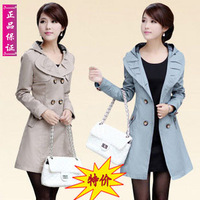 Freeshipping 2013 brand fashion Spring trench outerwear women spring and autumn slim spring outerwear 2013 women's casual trench