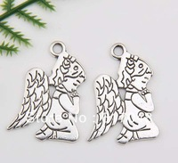 Wholesale Zinc Alloy 150pcs Fashion  Angel Pendants 23x17mm  C176C