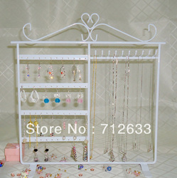 Free Shipping New Jewelry Earring and Necklace Display 48 Holes Earring Jewelry Display Rack Stand Holder 5colors can choose(China (Mainland))