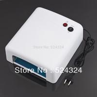 1pcs New 220V EU Plug 36W UV Nail Art Lamp Gel Curing Tube Light Dryer