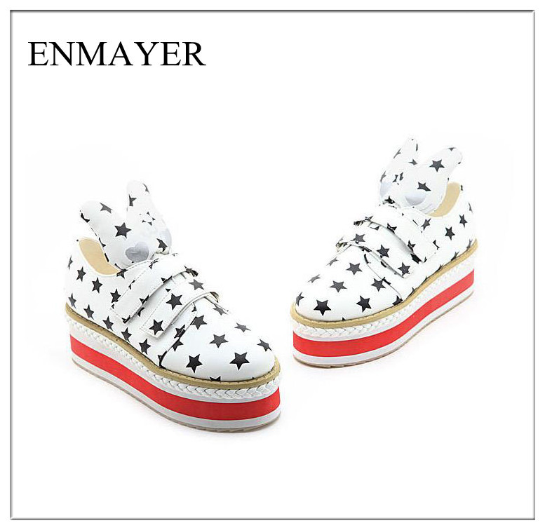 369-2NBLL New t design women platform shoes cute cartoon rabbit waterproof and breathable multi-function platform dance sneakers(China (Mainland))