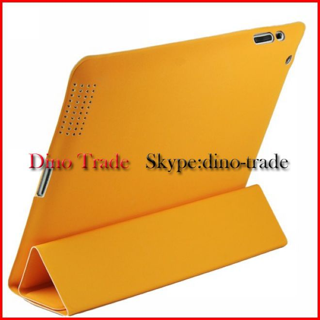 Wholesale Front and back Folio Soft Leather Case Cover Bag For new iPad 4 iPad 3 iPad 2 Can mix color 10pcs/lot(China (Mainland))