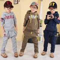 2014  fashion   children  sports set with a hood sweatshirt for  boy  girl   free  shipping