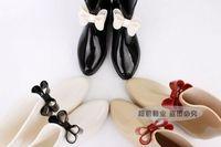 Chromophous vivi bow jelly rain boots rainboots fashion water shoes flatbottomed overstrung Women