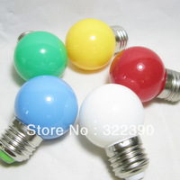 Free shipping 220v 0.5W multicolour led small bulb red white colorful led lights landscape lamp  10 pieces/lot