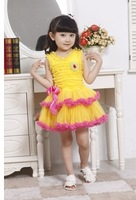 Free Shipping wholesale 3pcs/lot 2013 New Fashion girl  Summer  Princess  Dancing Dress, Kids Vest Dresses  5colors