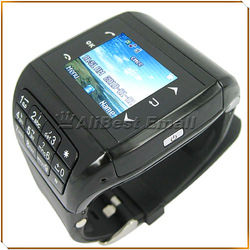 Free shipping! Quad Band Touch Screen Cellphone Watch with 2.0 MP Camera + MP3 / MP4 / FM(China (Mainland))
