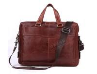 2014 new Brand New Real Vintage Cow Leather Men's Briefcase Laptop Bag Handbag Messenger bag 7162C Hot Selling