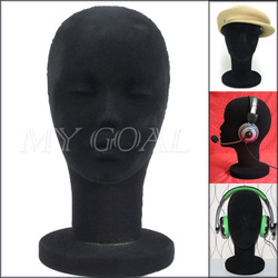 Mannequin Display Foam Female Mannequin Head black For Hat,Hair,Headset,Microphone Display[01040181](China (Mainland))