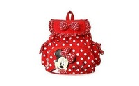 Lovery two color polka dot  minnie mouse children schoolbag backpack freeshipping