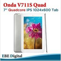 "Original! in shock!Onda V711S QuadCore 7"" 1024x600 ips screen Android4.1 Tablet pc Allwinner A31s 1GRAM 8GB WIFI HDMI 7.4mm Slim"