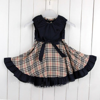 Summer children's clothing 100% cotton girl kid's sleeveless one piece braces dress free shipping