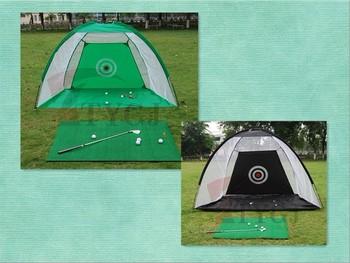 1set 2m Golf Swing Practice Exercises Blow Hitting Net + Mat + 10 Balls K1051