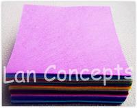 Free shipping DIY Polyester Felt Fabric Non-woven Felt Sheet for Craft Work 42Colors -300x300x1mm 84pcs/lot LA0075