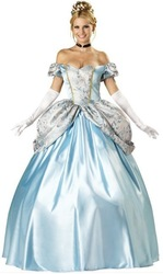 Wholesale Sexy Blue Princess Costume With Headwear+Neckband+Gloves,Fancy Party Dress For Cosplay Woman Costume For Halloween(China (Mainland))