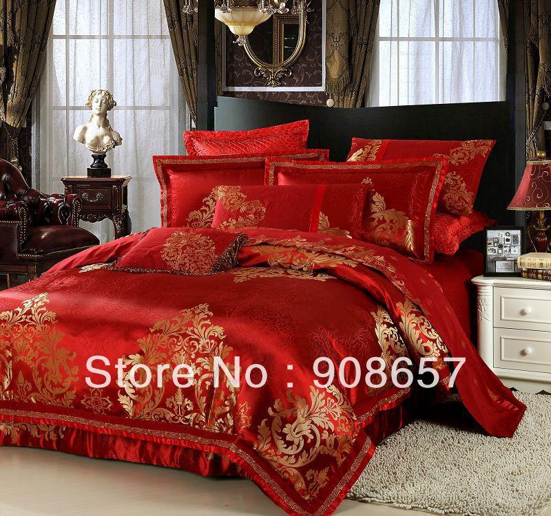 alfa img showing red gold bedroom sets