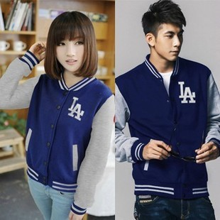 Free Shipping Fashion Baseball LA Classic Sweatshirts fashion Hip Hop Varsity Unisex Jackets(China (Mainland))