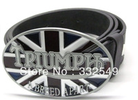 TRIUMPH A BREED APART ENGLAND FLAG BELT BUCKLE with Free belt , Free shipping worldwide