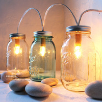 New 2014 Single head gift table lamp american vintage glass bottle dimming bedside lamp decoration t8077