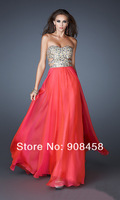High quality!shining Prom Dresses 2013 New Arrival Red Pink A-Line Sweetheart Chiffon light blue bright red prom party gowns
